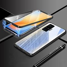 Custodia Lusso Alluminio Laterale Specchio 360 Gradi Cover M04 per Vivo X51 5G Nero