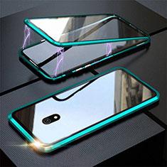 Custodia Lusso Alluminio Laterale Specchio 360 Gradi Cover M04 per Xiaomi Redmi 8A Verde