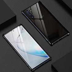 Custodia Lusso Alluminio Laterale Specchio 360 Gradi Cover M06 per Samsung Galaxy Note 10 5G Nero
