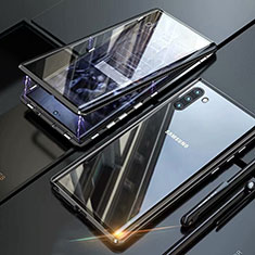 Custodia Lusso Alluminio Laterale Specchio 360 Gradi Cover M07 per Samsung Galaxy Note 10 Nero