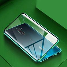 Custodia Lusso Alluminio Laterale Specchio 360 Gradi Cover M09 per Realme X2 Pro Verde