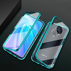 Custodia Lusso Alluminio Laterale Specchio 360 Gradi Cover M10 per Vivo Nex 3S Verde