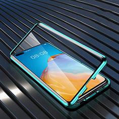 Custodia Lusso Alluminio Laterale Specchio 360 Gradi Cover N04 per Huawei P40 Verde