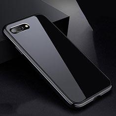 Custodia Lusso Alluminio Laterale Specchio 360 Gradi Cover per Apple iPhone 8 Plus Nero