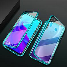 Custodia Lusso Alluminio Laterale Specchio 360 Gradi Cover per Huawei Enjoy 10 Plus Verde