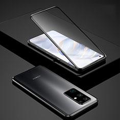 Custodia Lusso Alluminio Laterale Specchio 360 Gradi Cover per Huawei Honor 30 Nero