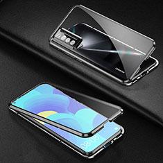 Custodia Lusso Alluminio Laterale Specchio 360 Gradi Cover per Huawei Nova 7 5G Nero
