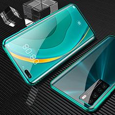 Custodia Lusso Alluminio Laterale Specchio 360 Gradi Cover per Huawei Nova 7 Pro 5G Verde