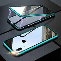 Custodia Lusso Alluminio Laterale Specchio 360 Gradi Cover per Huawei P Smart Z Verde