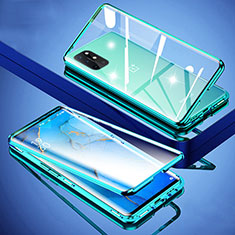 Custodia Lusso Alluminio Laterale Specchio 360 Gradi Cover per OnePlus 8T 5G Verde