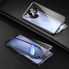 Custodia Lusso Alluminio Laterale Specchio 360 Gradi Cover per Oppo Ace2 Nero