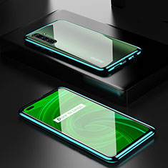 Custodia Lusso Alluminio Laterale Specchio 360 Gradi Cover per Realme X50 Pro 5G Verde
