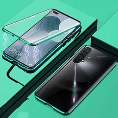 Custodia Lusso Alluminio Laterale Specchio 360 Gradi Cover per Realme X50m 5G Verde