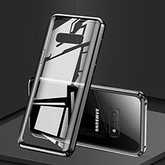 Custodia Lusso Alluminio Laterale Specchio 360 Gradi Cover per Samsung Galaxy S10e Nero