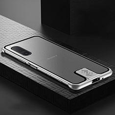 Custodia Lusso Alluminio Laterale Specchio 360 Gradi Cover per Sony Xperia 5 II Argento