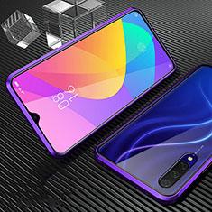 Custodia Lusso Alluminio Laterale Specchio 360 Gradi Cover per Xiaomi CC9e Viola