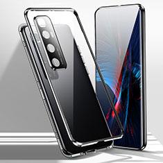 Custodia Lusso Alluminio Laterale Specchio 360 Gradi Cover per Xiaomi Mi 10 Ultra Nero