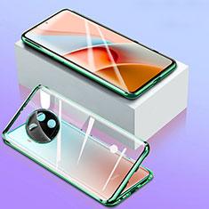 Custodia Lusso Alluminio Laterale Specchio 360 Gradi Cover per Xiaomi Mi 10T Lite 5G Verde
