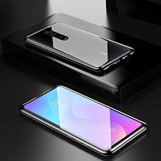 Custodia Lusso Alluminio Laterale Specchio 360 Gradi Cover per Xiaomi Mi 9T Nero