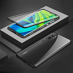 Custodia Lusso Alluminio Laterale Specchio 360 Gradi Cover per Xiaomi Mi Note 10 Nero