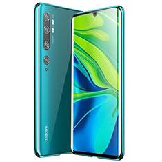 Custodia Lusso Alluminio Laterale Specchio 360 Gradi Cover per Xiaomi Mi Note 10 Verde