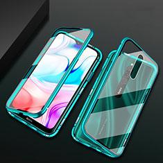 Custodia Lusso Alluminio Laterale Specchio 360 Gradi Cover per Xiaomi Redmi 8 Verde