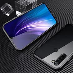 Custodia Lusso Alluminio Laterale Specchio 360 Gradi Cover per Xiaomi Redmi Note 8 Nero
