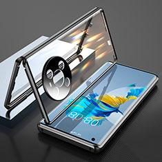 Custodia Lusso Alluminio Laterale Specchio 360 Gradi Cover T01 per Huawei Mate 40 Nero