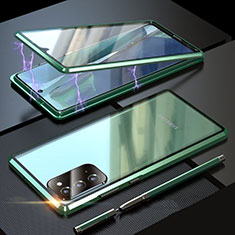 Custodia Lusso Alluminio Laterale Specchio 360 Gradi Cover T01 per Samsung Galaxy Note 20 5G Verde