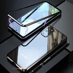 Custodia Lusso Alluminio Laterale Specchio 360 Gradi Cover T01 per Samsung Galaxy S20 Plus 5G Nero