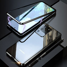 Custodia Lusso Alluminio Laterale Specchio 360 Gradi Cover T01 per Samsung Galaxy S20 Ultra 5G Nero