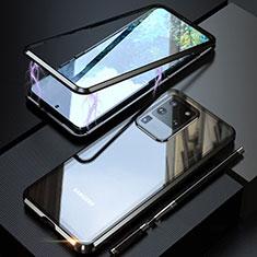 Custodia Lusso Alluminio Laterale Specchio 360 Gradi Cover T01 per Samsung Galaxy S20 Ultra Nero