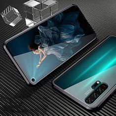 Custodia Lusso Alluminio Laterale Specchio 360 Gradi Cover T02 per Huawei Honor 20 Pro Nero