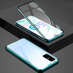 Custodia Lusso Alluminio Laterale Specchio 360 Gradi Cover T02 per Samsung Galaxy S20 Plus Verde