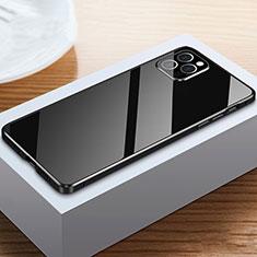 Custodia Lusso Alluminio Laterale Specchio 360 Gradi Cover T03 per Apple iPhone 12 Pro Max Nero