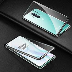 Custodia Lusso Alluminio Laterale Specchio 360 Gradi Cover T03 per OnePlus 8 Pro Nero
