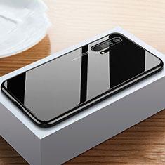 Custodia Lusso Alluminio Laterale Specchio 360 Gradi Cover T05 per Huawei Honor 20 Pro Nero