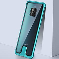 Custodia Lusso Alluminio Laterale Specchio 360 Gradi Cover T05 per Huawei Mate 20 Pro Verde