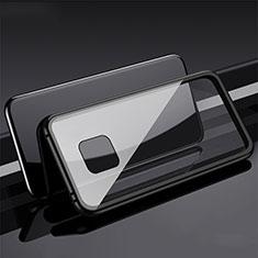 Custodia Lusso Alluminio Laterale Specchio 360 Gradi Cover T08 per Huawei Mate 20 Pro Nero