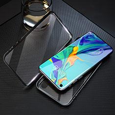 Custodia Lusso Alluminio Laterale Specchio 360 Gradi Cover T09 per Huawei Honor 20 Nero