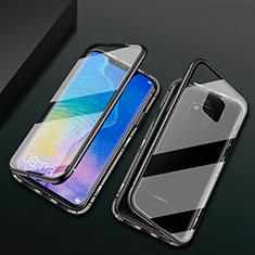 Custodia Lusso Alluminio Laterale Specchio 360 Gradi Cover T09 per Huawei Mate 20 Pro Nero