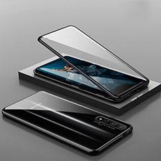 Custodia Lusso Alluminio Laterale Specchio 360 Gradi Cover T10 per Huawei Honor 20 Nero