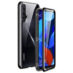 Custodia Lusso Alluminio Laterale Specchio 360 Gradi Cover T11 per Huawei Nova 5T Nero