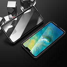 Custodia Lusso Alluminio Laterale Specchio 360 Gradi Cover T12 per Huawei Mate 20 Pro Nero