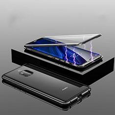 Custodia Lusso Alluminio Laterale Specchio 360 Gradi Cover T14 per Huawei Mate 20 Pro Nero