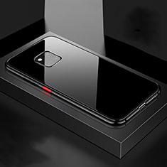 Custodia Lusso Alluminio Laterale Specchio 360 Gradi Cover T15 per Huawei Mate 20 Pro Nero