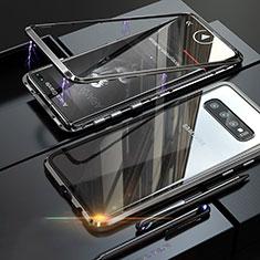 Custodia Lusso Alluminio Laterale Specchio Cover A01 per Samsung Galaxy S10 Plus Nero