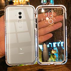 Custodia Lusso Alluminio Laterale Specchio Cover M01 per Huawei Mate 20 Lite Oro