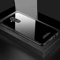Custodia Lusso Alluminio Laterale Specchio Cover M02 per Huawei Mate 20 Lite Nero