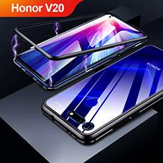 Custodia Lusso Alluminio Laterale Specchio Cover per Huawei Honor View 20 Nero
